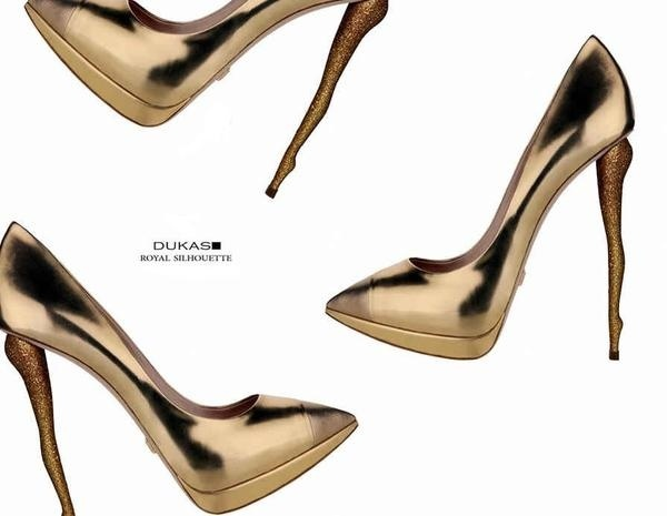 Dukas Royal Silhouette FW 2012 #shoes #woman #shoe #accessory #golden #gold #fashion