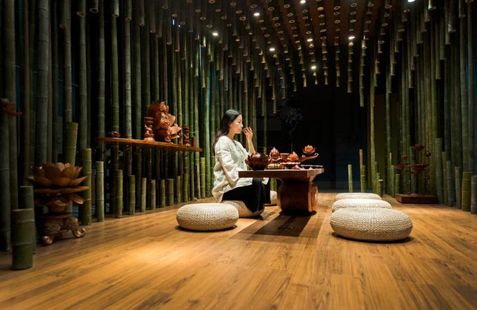 Lotus & Bamboo Tea Room by Minax - www.homeworlddesign. com (3) #design #room #tea