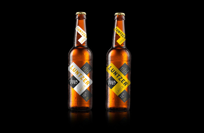 Luntzer Beer — The Dieline #packaging #beer #bottle