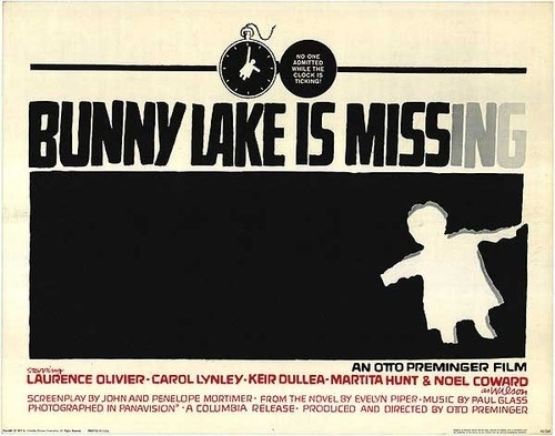 Graphic design(Bunny Lake is Missing, by Saul Bass,1965. Viavintageho) #bass #saul #design #graphic