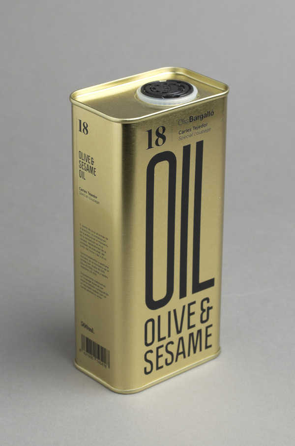OLIVE & SESAME OIL (Packaging) by Lo Siento Studio, Barcelona #packaging