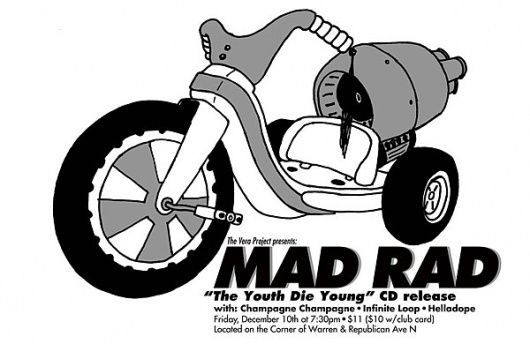 GigPosters.com - Mad Rad - Champagne Champagne - Helladope #silkscreen #gallo #print #big #screen #wheel #gigposter #poster