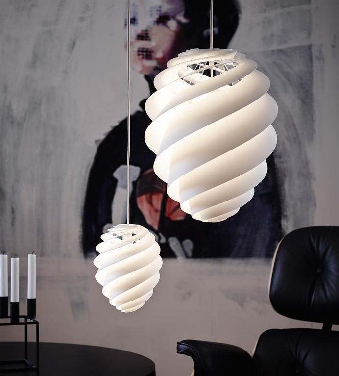 Swirl lamp light and delicately by Le Klint / www.homeworlddesign.com #lamp #lighting