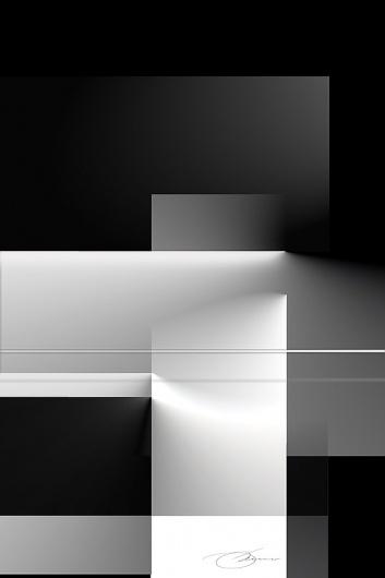 Black and White 2 #white #illusion #grayscale #design #black #photoshop #architecture #art #and