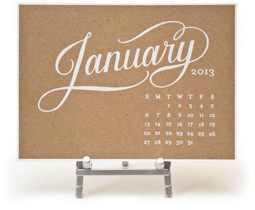 Kate desk calendar kraft._rect540 #calendar #typography