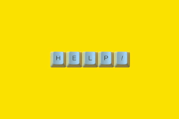 HELP #computer #keyboard #guerrero #brand #it #andrs #logo