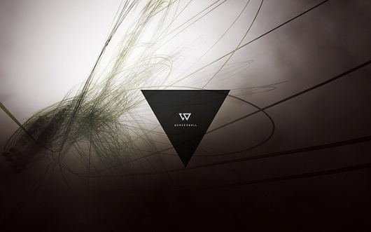 Wonderwall by Taiyo Yamamoto | InspireFirst #abstract #fog #black #space #triangle