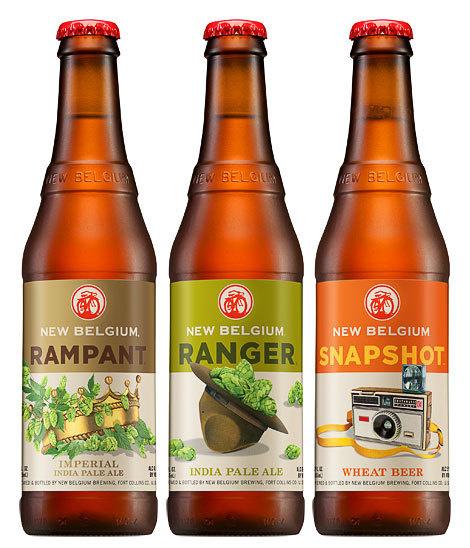 New Belgium Bottles #packaging #beer #labels #bottle