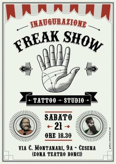 MINIMALSONIC #flyer #tattoo #freak #show