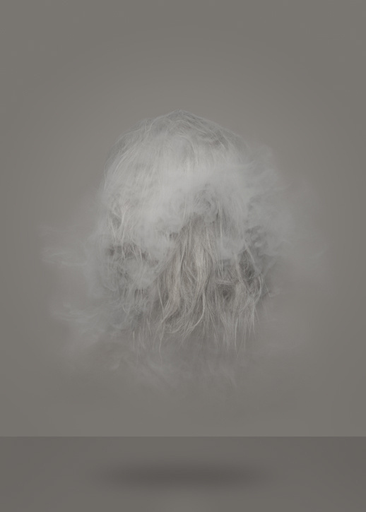 BARTHOLOT #fog #photo #hair #floating #grey