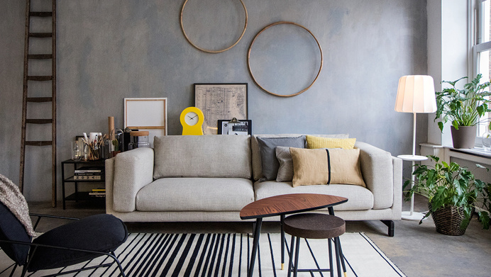 IKEA graphic minimalistic shapes in home furnishing