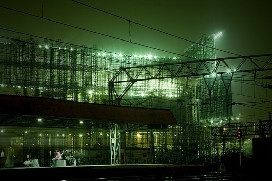 Bandra | Flickr - Photo Sharing! #train #fog #sodium #india #mumbai #night #railway #light