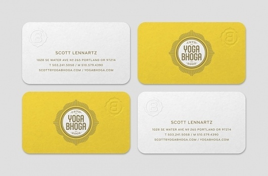 Yoga Bhoga Identity on the Behance Network #cards #business