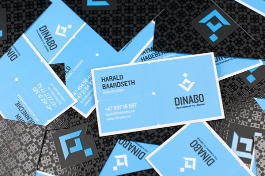 onestepcreative » Identity System for Dinabo Bedrift #business #logo #cards #branding