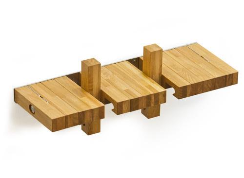 Fusillo Bookshelves by andViceVersa #wood #minimal #bookshelf
