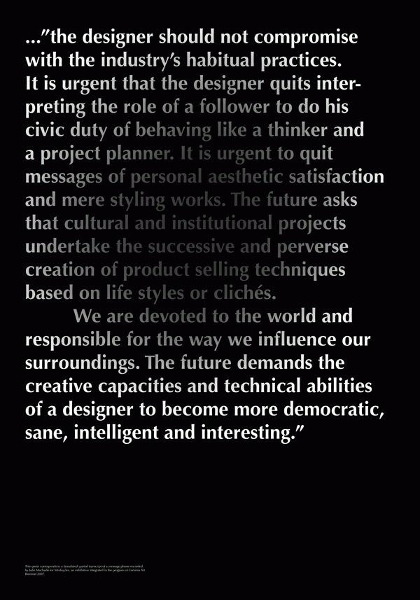 Agitadores de Conciencia - João Machado #design #quotes