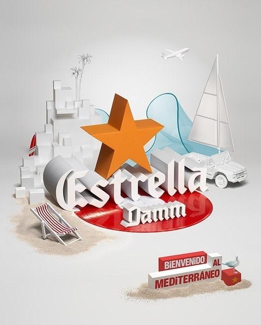 crisp 3D type #beer #estrella