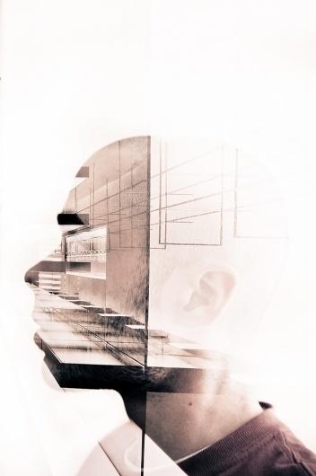 Capitonné. #lines #color #composition #surimpression #portrait