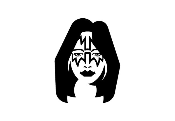 Royalty Free Kiss – Ace Frehley Icon #icon #kiss