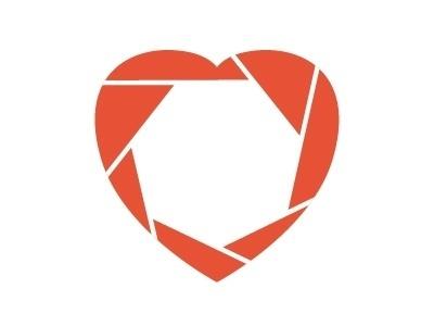 Dribbble - f/1.8 by Rodrigo Maia #heart #logo #shutter #photography