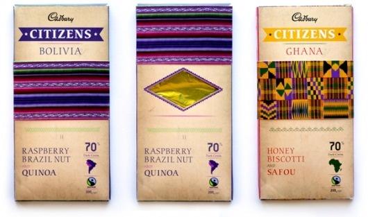 Citizens Dark Chocolate on the Behance Network #bolivia #ghana #packaging #wrap #chocolate #flavour #cadbury #ethnic