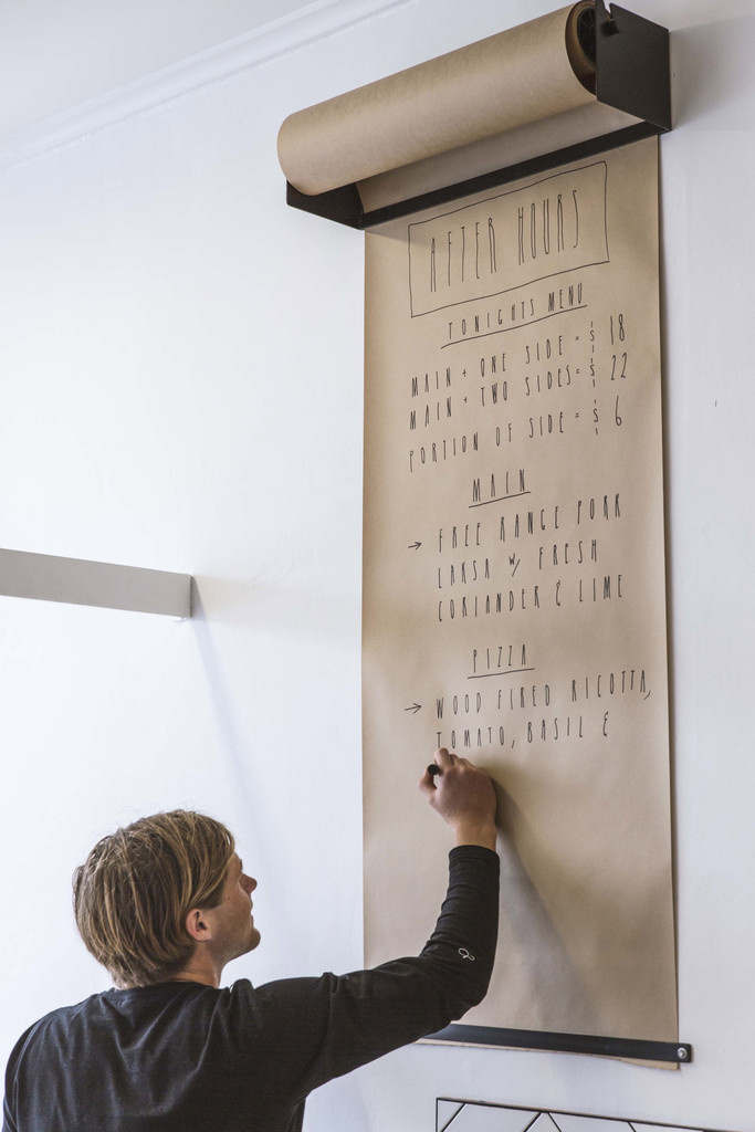 Wall mounted kraft paper roll display Studio Roller by George and Willy - www.homeworlddesign. com (1) #paper #kraft #dispenser