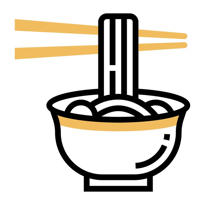 See more icon inspiration related to bowl, chinese, asian, food and restaurant, cultures, chinese food, sticks, noodles and food on Flaticon.