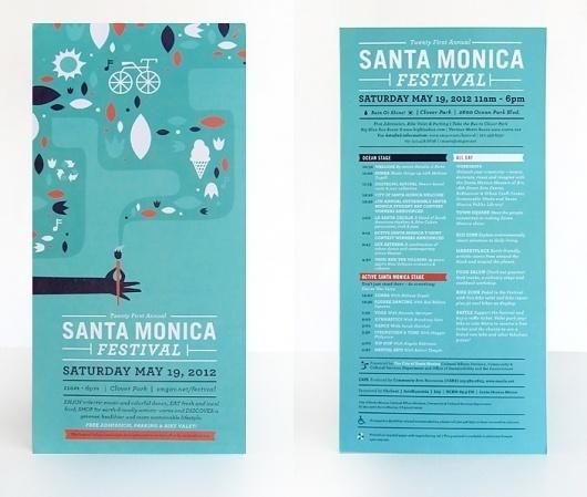Ludlow Kingsley | Work | Santa Monica Festival #design #graphic