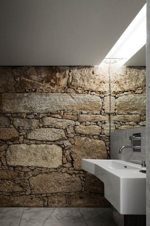 Tumblr #interiors #architecture #stone #bathroom