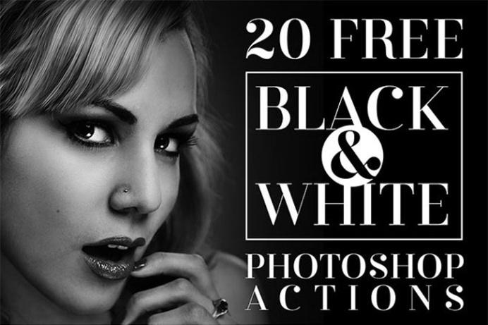 20 Free Black & White Photoshop Actions