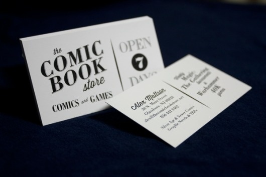 re-Brand: The Comic Book Store #business #card #serif #classic #retro #book #comic #store #wisdom #vintage