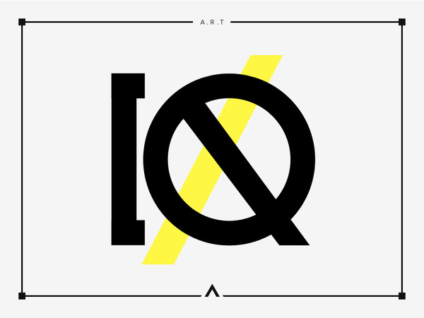 iQ #logotype #iq #design #yellow #artwork #minimal #art #poster #type