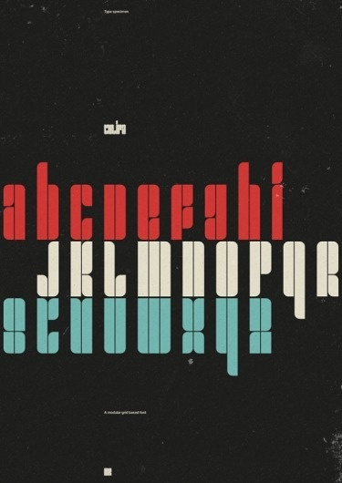FYI Monday: Minimal & Geometric Grunge Design by Marius Roosendaal #design #graphic #typography