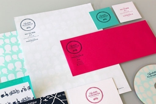 design work life » cataloging inspiration daily #white #red #business #card #seal #envelope #collateral #logo #letterhead #teal
