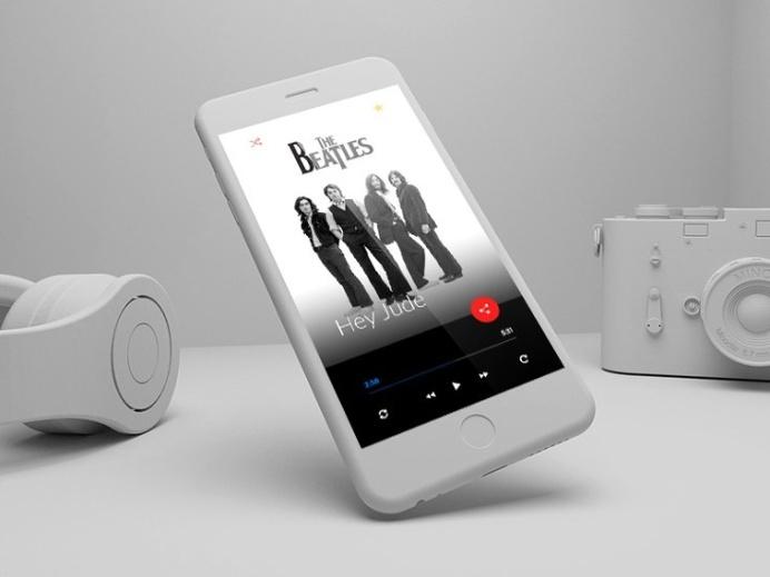 Modern Music Player UI PSD