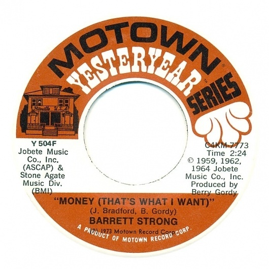 Center Of Attention | The Art Of Record Center Labels | Barrett Strong – Money #record