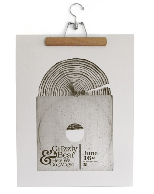 ordinairy.com #grizzly #print #wood #poster #bear
