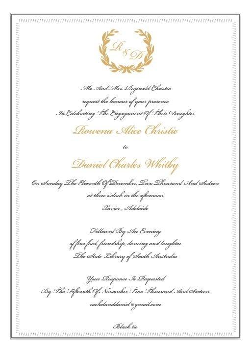 Regal Wreath - Engagement Invitations #paperlust #engagement #engagementinvitation #invitation #engagementcards #engagementinspiration #wed