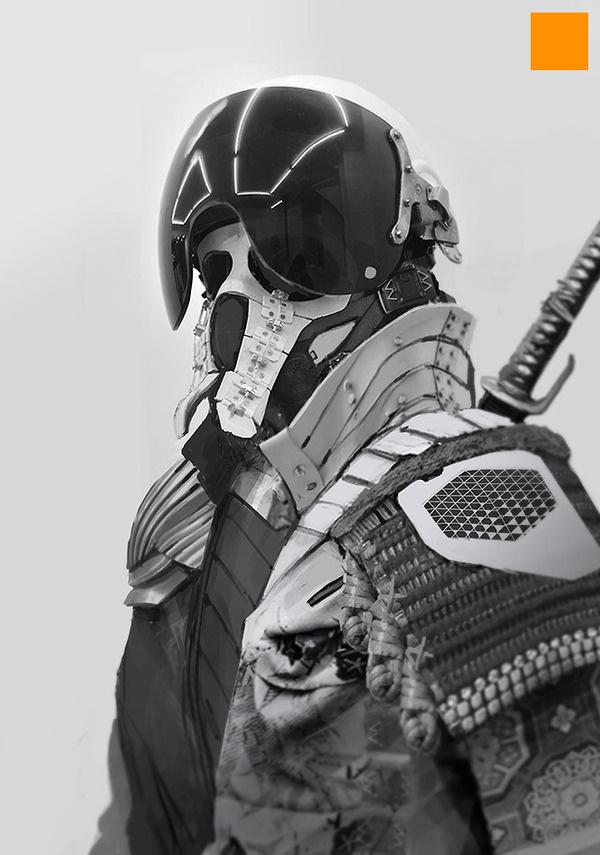 Samurai 2 #robot #fi #sci #illustration #future