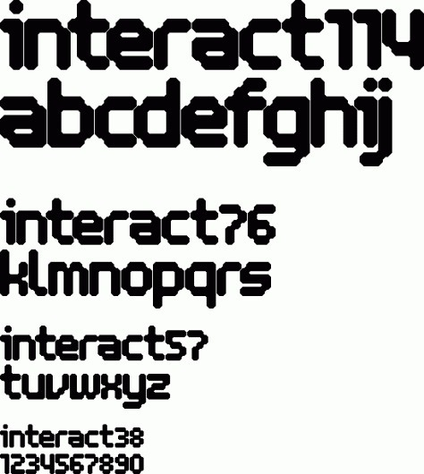 Interact Typefaces #font #interact #typeface