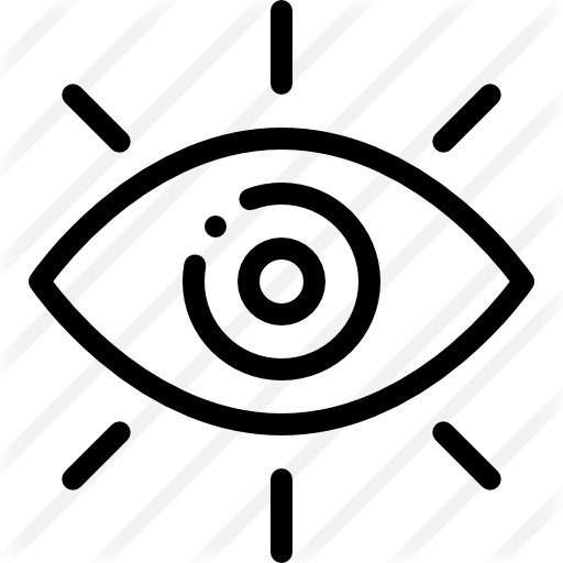 See more icon inspiration related to eye, view, sight, observer, shared vision, miscellaneous, visibility, optic, optical, visible, eyes and interface on Flaticon.