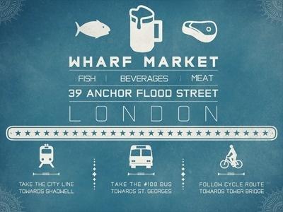 Dribbble - Wharf Market by Will Hay #london #market #typography
