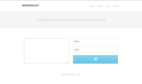 Send me a Mail and say hello! #design #mail #minimal #blue #web