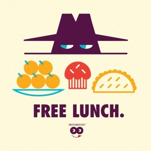 Tim Lahan #lunch #illustration #free