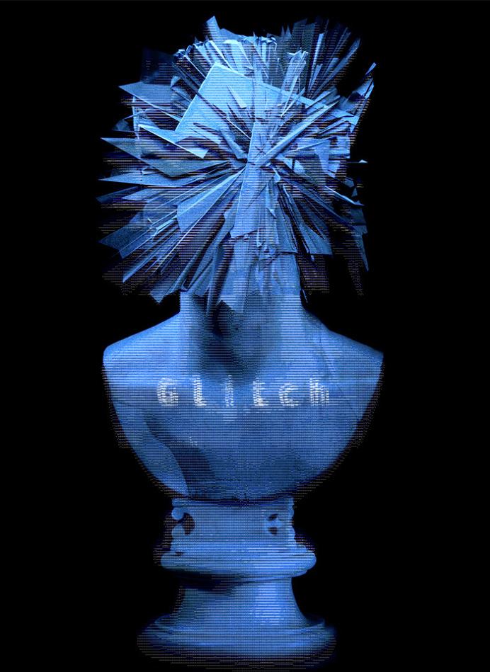 #glitch #poster #blender #ascii #design
