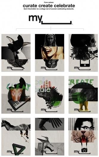 Bleed vs. Myspace – bleed - agency blog #branding #identity #stationery #myspace #collage