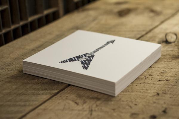 Guitars pt.1 / Letterpress prints on Behance #guitar #rock #print #letterpress #roll