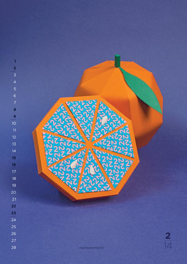 2014 Calendar 6 #craft #paper #art