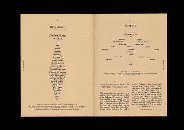 CÉLINE WOUTERS GRAPHIC DESIGN #print #poetry #typography