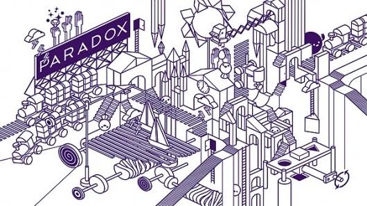 Paradox Art Cafe on the Behance Network #isometric #chan #escher #building #blocks #stephen #paradox